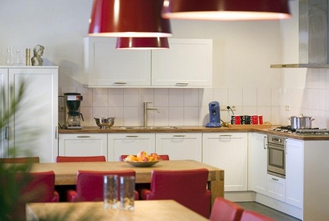 Keuken de Schouw groepsaccommodatie bij 't Volderke