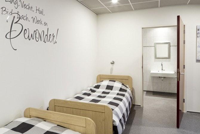 Slaapkamer de Leilinde met badkamer 't volderke